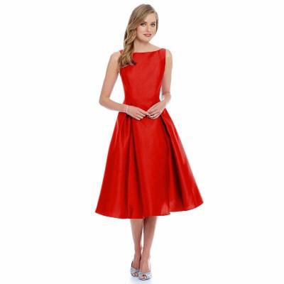 Ugrowth Collection Red Taffeta Flared Dress