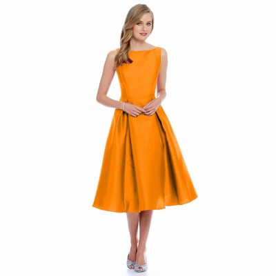 Ugrowth Collection Orange Taffeta Flared Dress