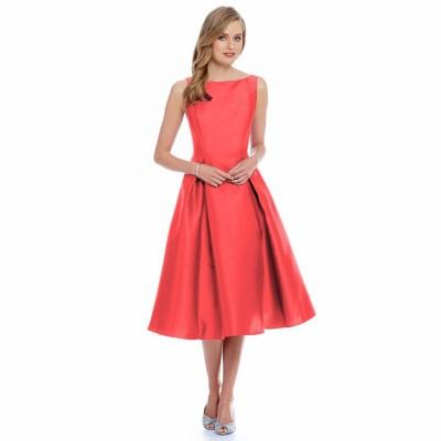 Ugrowth Collection Peach Taffeta Flared Dress