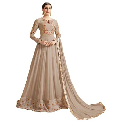 Ugrowth Collection Grey Georgette Embroidered Un-Stitched Dress Material