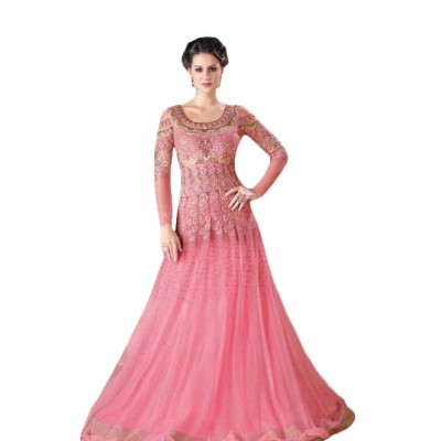 Ugrowth Collection Rose Net Embroidered Un-Stitched Dress Material
