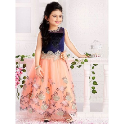 Ugrowth Collection Peach Broket & Net Hand Chain and Flower Gown
