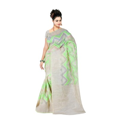 Ugrowth Collection Green Banarasi Cotton Silk Jacquard Georgette Saree