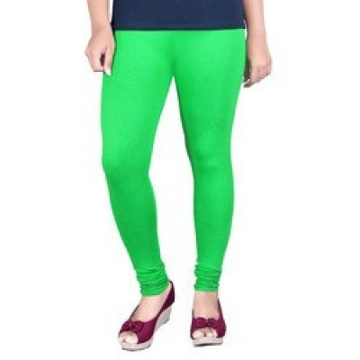 AARJIKA Fluorescent Green Cotton Leggings