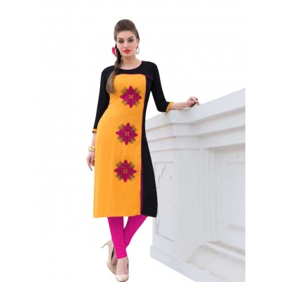 AARJIKA Multi Colour Cotton Printed Straight Kurta