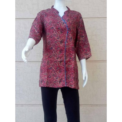RS Fashions Multi Colour Rayon Kalamkari Regular Top