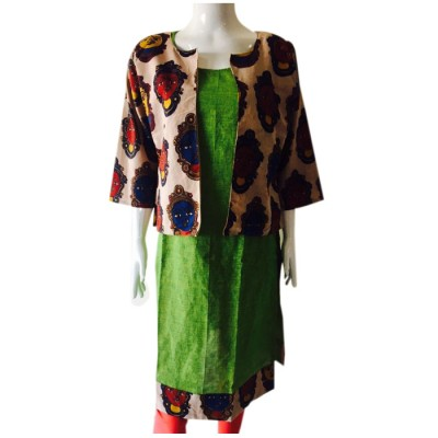 RS Fashions Green Cotton Kalamkari Straight Kurta