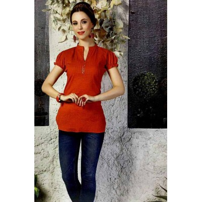 RS Fashions Maroon Cotton Solid Regular Top