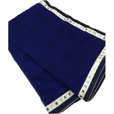 RS Fashions Navy Blue Chiffon Mirror worked Saree