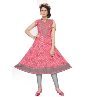 RS Fashions Rose Cotton Printed Anarkali Kurta