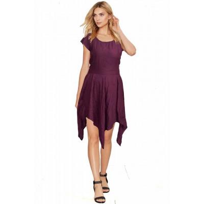 ERA Art Violet American Crepe Asymmetric Dress