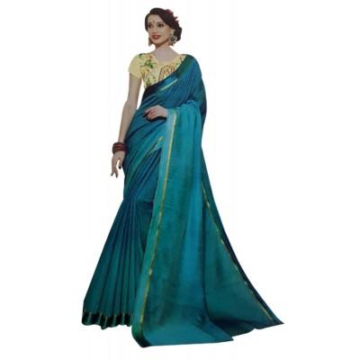 Vinayaka Blue Silk Saree