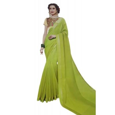 Vinayaka Green Silk Saree