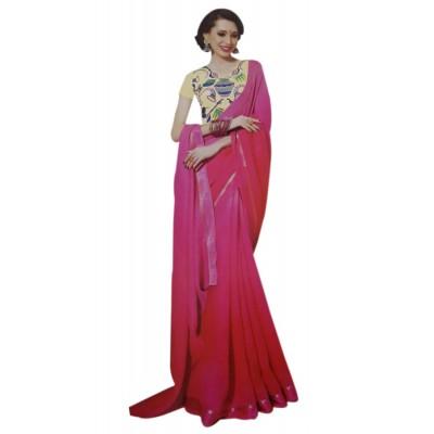 Vinayaka Pink Silk Saree