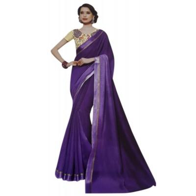 Vinayaka Violet Silk Saree