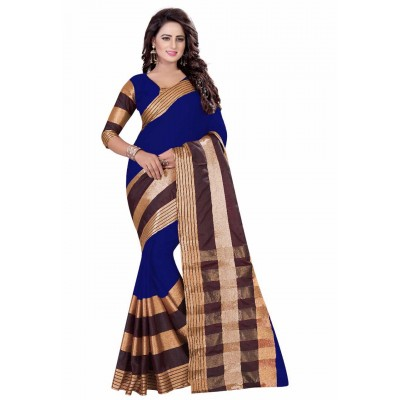 js fashion Blue Chiffon Silk Printed Saree