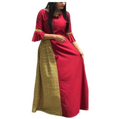 Fabmaza Fashion Maroon Pure Cotton Slub Kalamkari Flared Kurta