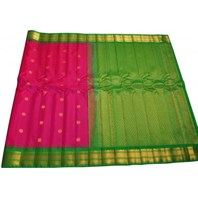 Hanumanthu Magenta Pure Silk Gadwal Handloom Saree