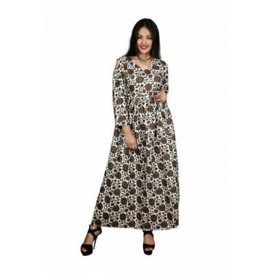 Indian Aurra Brown Cotton Printed Jaipuri Kurta