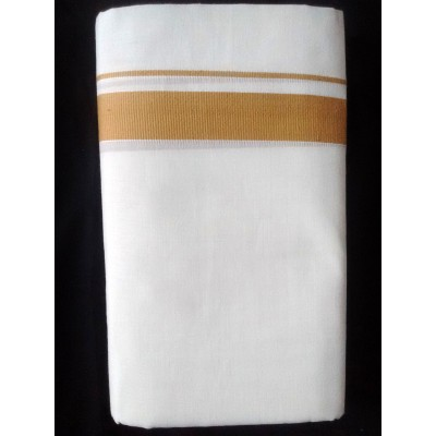 Kanyakumari Handloom light Brown Cotton Handloom Dhoti