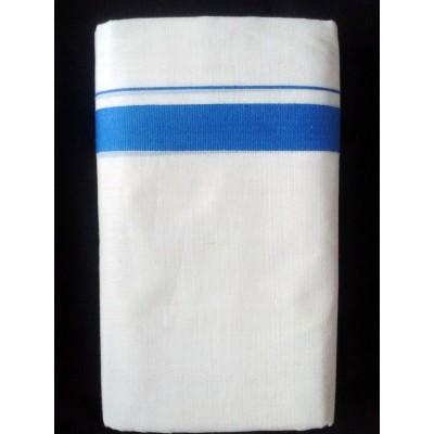 Kanyakumari Handloom Blue Cotton Handloom Dhoti