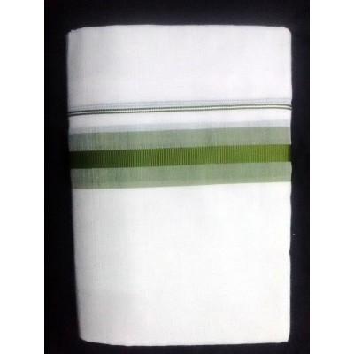 Kanyakumari Handloom Green Cotton Power loom Dhoti