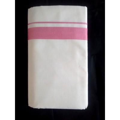 Kanyakumari Handloom Pink Cotton Handloom Dhoti