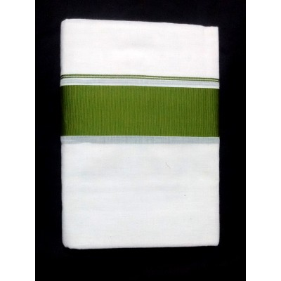 Kanyakumari Handloom Olive Green Cotton Power loom Dhoti