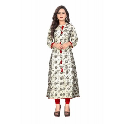 NTC Multi Colour Cotton Printed Anarkali Kurta