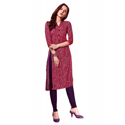 NTC Multi Colour Rayon Printed Straight Kurta