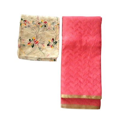 Ameya Peach Jute Patola with Net Designer Blouse