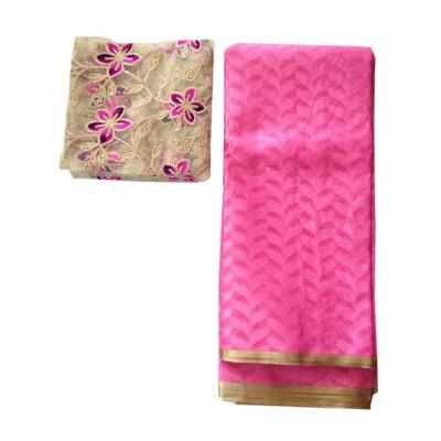 Ameya Pink Jute Patola with Net Designer Blouse