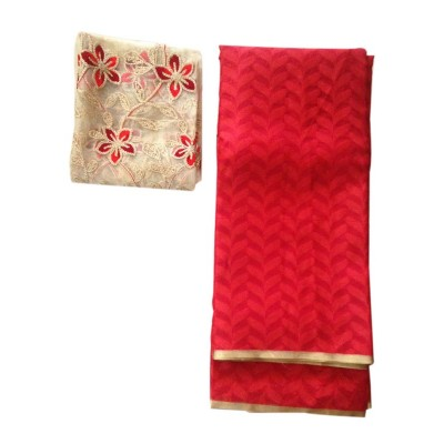 Ameya Red Jute Patola with Net Designer Blouse