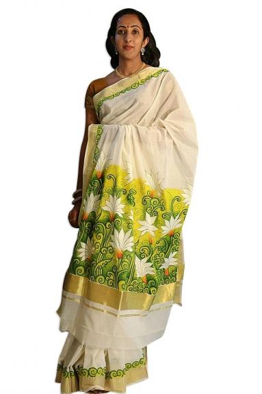 Kerala Kasavu Handloom Saree