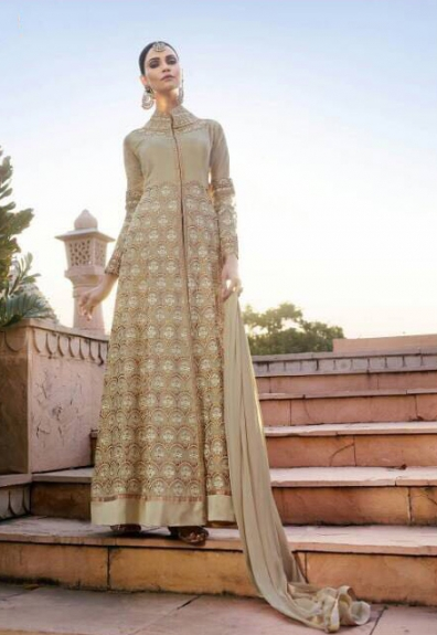 Semi-Stitched Dress Material