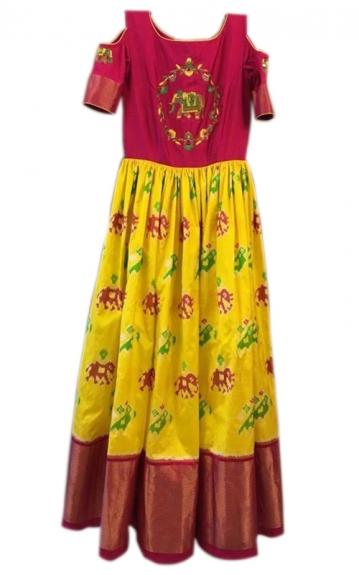 Un-Stitched Handloom Lehenga Choli