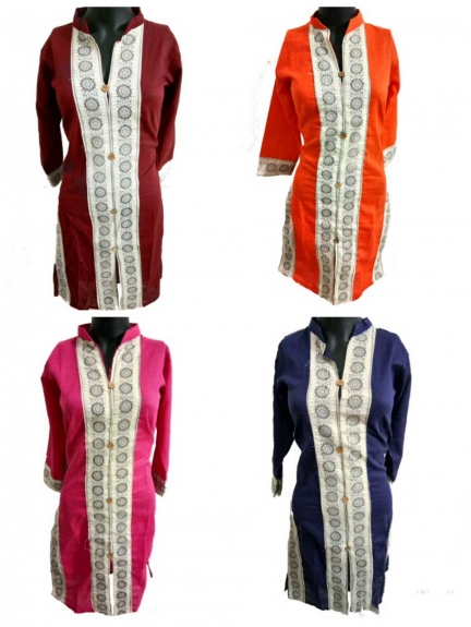 Straight Combo Kurtas - Pack of 4